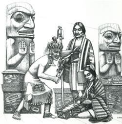The Prince and The Salmon People Illustration